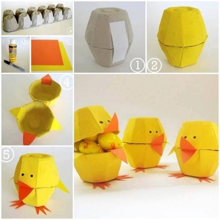 Вицове: Пиле от опаковка за яйца
