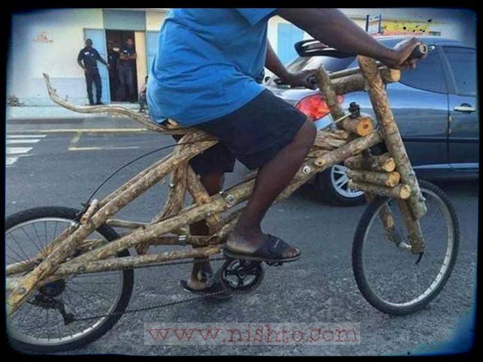 Вицове: Дървен велосипед, ама дизайнерски!