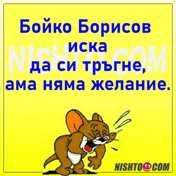Вицове: Бойко Борисов иска да си тръгне