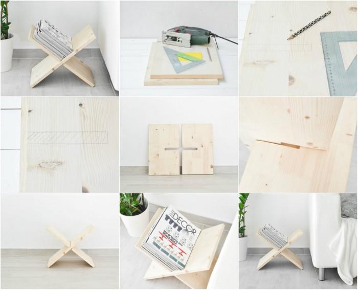 Вицове: Х-образна поставка за списания и книги