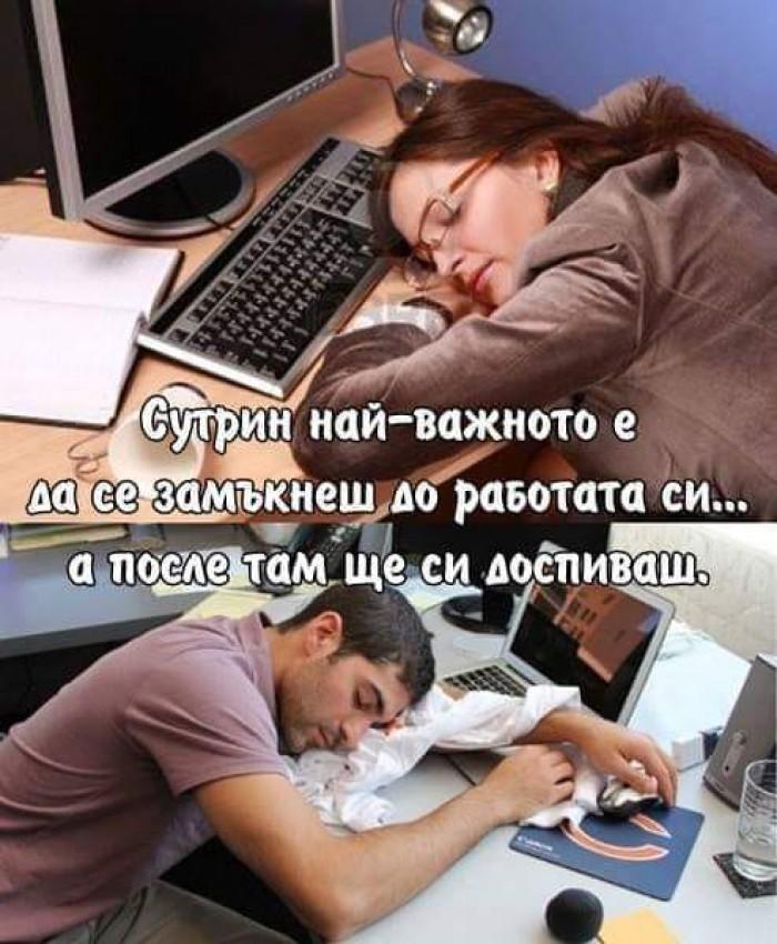 Вицове: Сутрин най-важното е да се замъкнеш до работата
