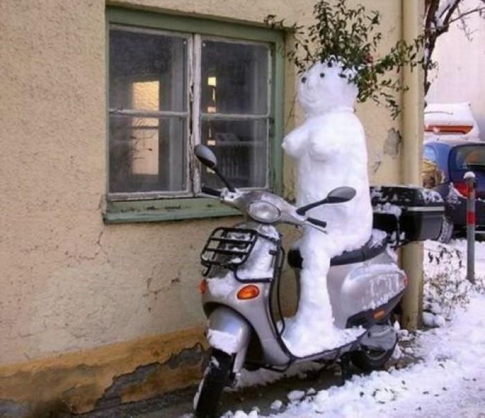 Вицове: Снежно изкуство!