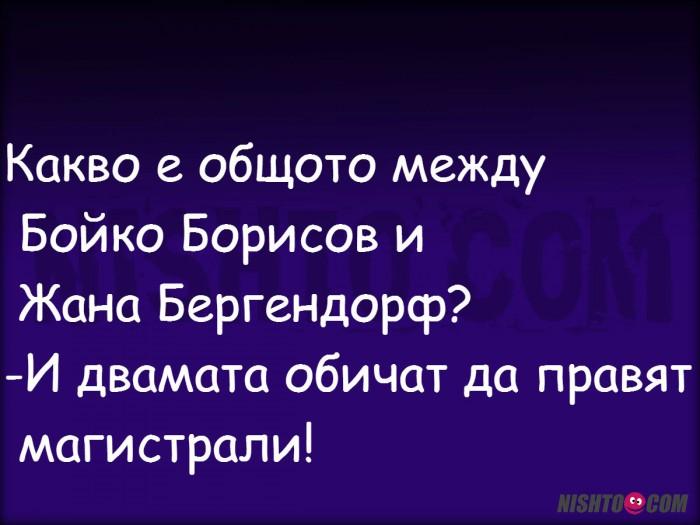 Вицове: Какво е общото между Бойко Борисов и Жана Бергендорф