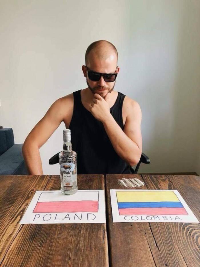 Вицове:  Полша и Колумбия