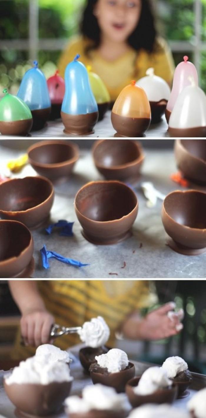 Вицове: Купички от шоколад - бързо и лесно