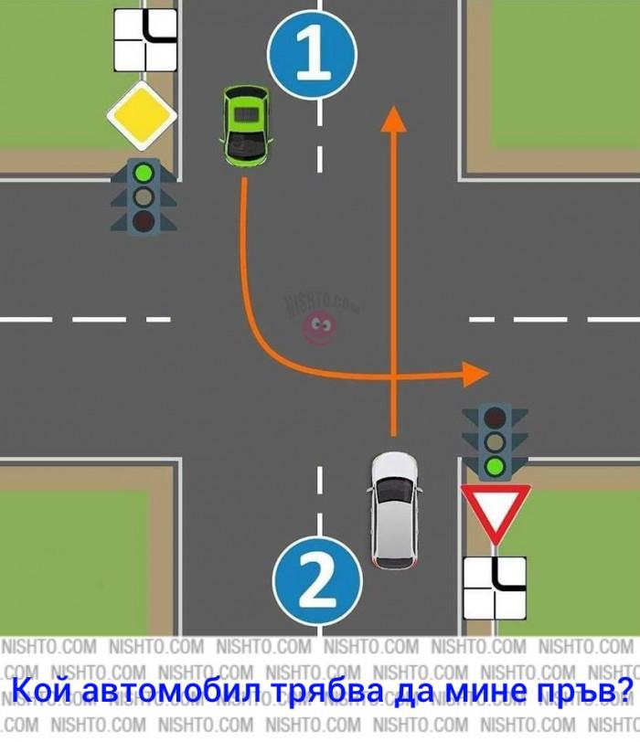 Вицове: Кой автомобил трябва да мине пръв