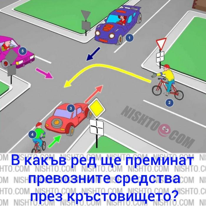 Вицове: В какъв ред ще преминат превозните средства през кръстовището