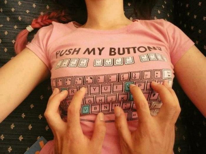 Вицове: Не виртуална клавиатура