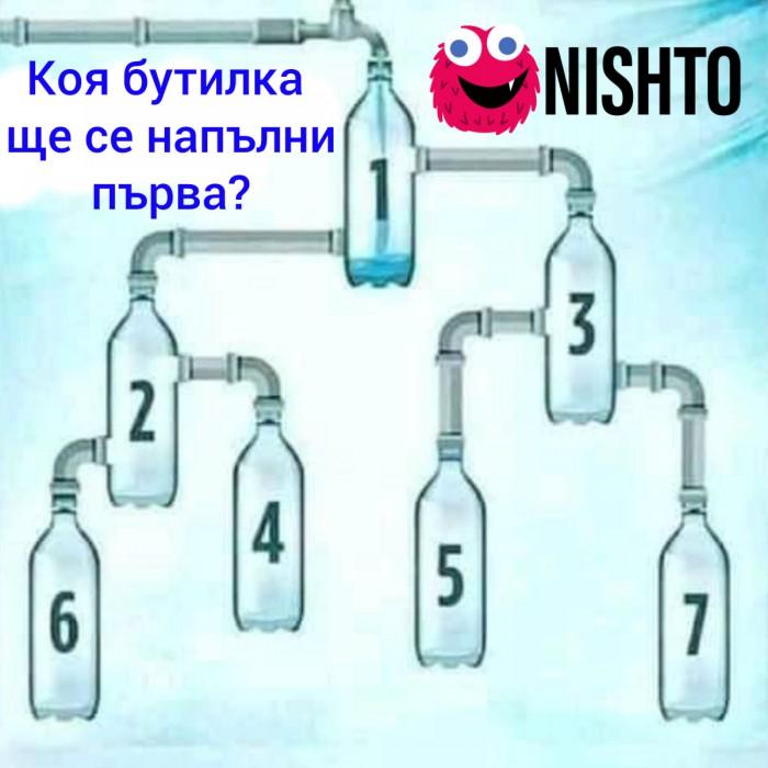 Вицове: Коя бутилка  ще се напълни  първа?