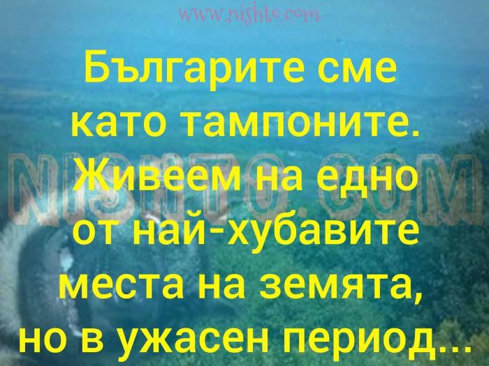 Вицове: Българите сме като тампоните